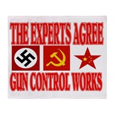 GUN CONTROL WORKS Throw Blanket