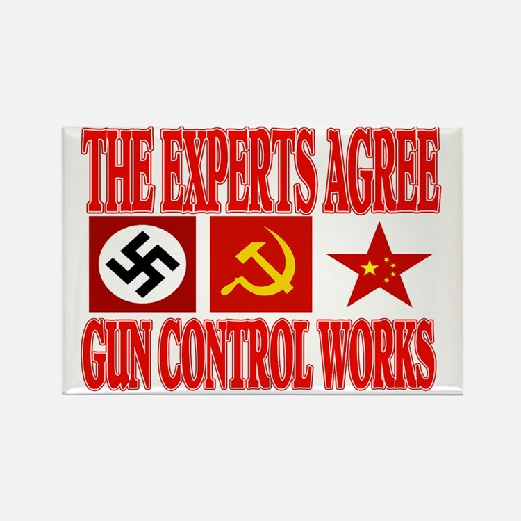 GUN CONTROL WORKS Rectangle Magnet