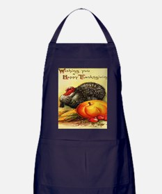 turkey_w_pumpkin_card Apron (dark)