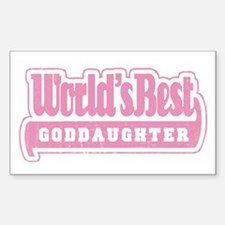 """World's Best Goddaughter"" Rectangle Decal"