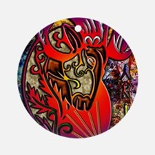 Aries Note Card Round Ornament
