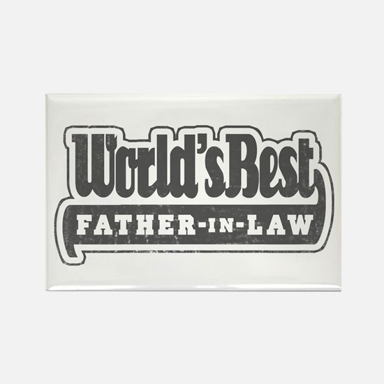 """World's Best Father-in-Law"" Rectangle Magnet"