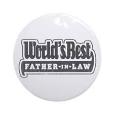 """""""World's Best Father-in-Law"""" Ornament (Round)"""