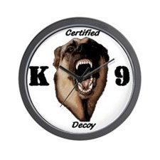 CK9D with dog  FRONT AND BACK 10x10_app Wall Clock