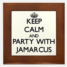 Keep Calm and Party with Jamarcus Framed Tile