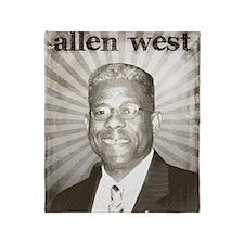 oct_allen_west Throw Blanket