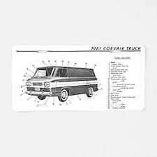 Corvair Van Shirt #2 Aluminum License Plate