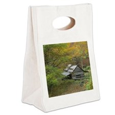 Home Sweet Home Cabin Canvas Lunch Tote