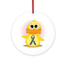 STD-Ribbon-Duck Round Ornament