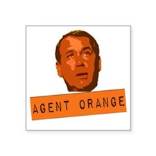 "Agent Orange Square Sticker 3"" x 3"""