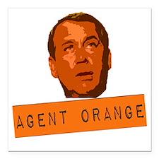 """Agent Orange Square Car Magnet 3"""" x 3"""""""