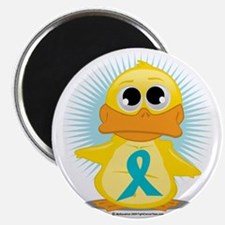 New-Teal-Ribbon-Duck Magnet