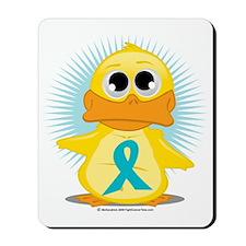 New-Teal-Ribbon-Duck Mousepad