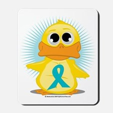 New-Teal-Ribbon-Duck Mousepad