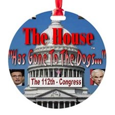 The House Has Gone To The Dogs Ornament