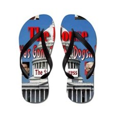 The House Has Gone To The Dogs Flip Flops