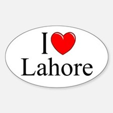"""""""I Love Lahore"""" Oval Decal"""