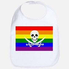Rainbow Pirate Flag Bib