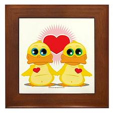 Love-Ducks Framed Tile