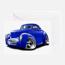1941 Willys Blue Car Greeting Card