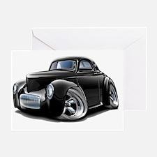 1941 Willys Black Car Greeting Card