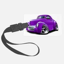 1941 Willys Purple Car Luggage Tag