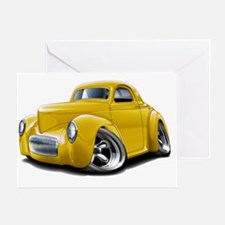1941 Willys Yellow Car Greeting Card