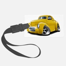 1941 Willys Yellow Car Luggage Tag