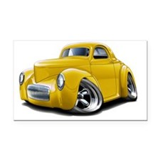 1941 Willys Yellow Car Rectangle Car Magnet