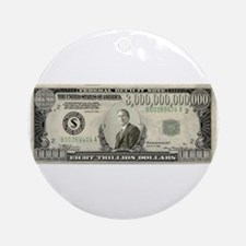 National Debt Ornament (Round)