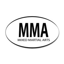 mma oval Wall Decal