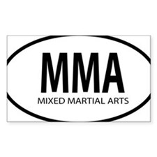 mma oval Decal