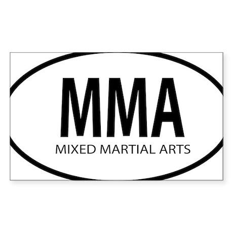 mma oval Sticker (Rectangle)