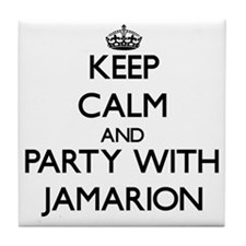 Keep Calm and Party with Jamarion Tile Coaster