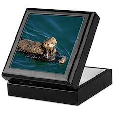 Mother Otter & Pup Keepsake Box