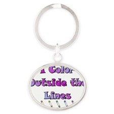 color_light Oval Keychain