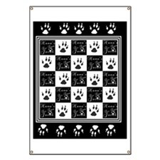 Nanas for Team Jacob BW Blanket Banner