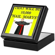 hail mary catholic humor Keepsake Box