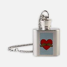 moustache-heart_i4s Flask Necklace