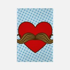 moustache-heart_i4s Rectangle Magnet