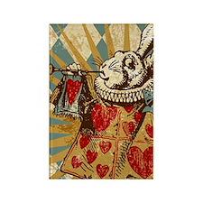 vintage-white-rabbit_3g Rectangle Magnet