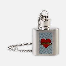 moustache-heart_3g Flask Necklace