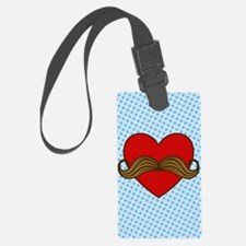 moustache-heart_3g Luggage Tag