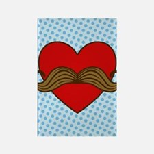 moustache-heart_3g Rectangle Magnet