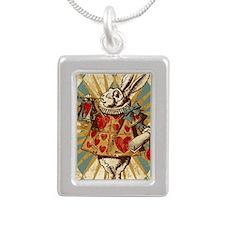 vintage-white-rabbit_i4s Silver Portrait Necklace