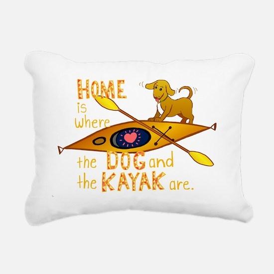 HOMEkayakDOGdark Rectangular Canvas Pillow