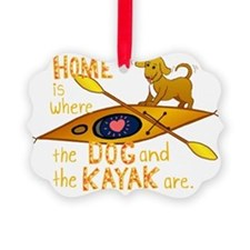 HOMEkayakDOGdark Ornament