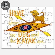HOMEkayakDOGdark Puzzle