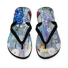 HAPPY DANCE - BLUE CAT SERIES - LORALAI Flip Flops