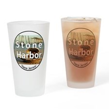 stoneharbor2circle Drinking Glass